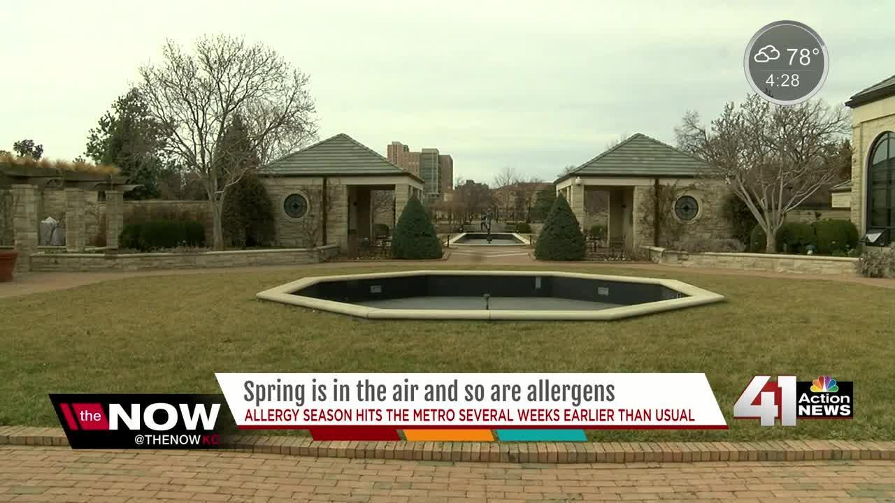 KC's warmer temps also mean loads of allergens