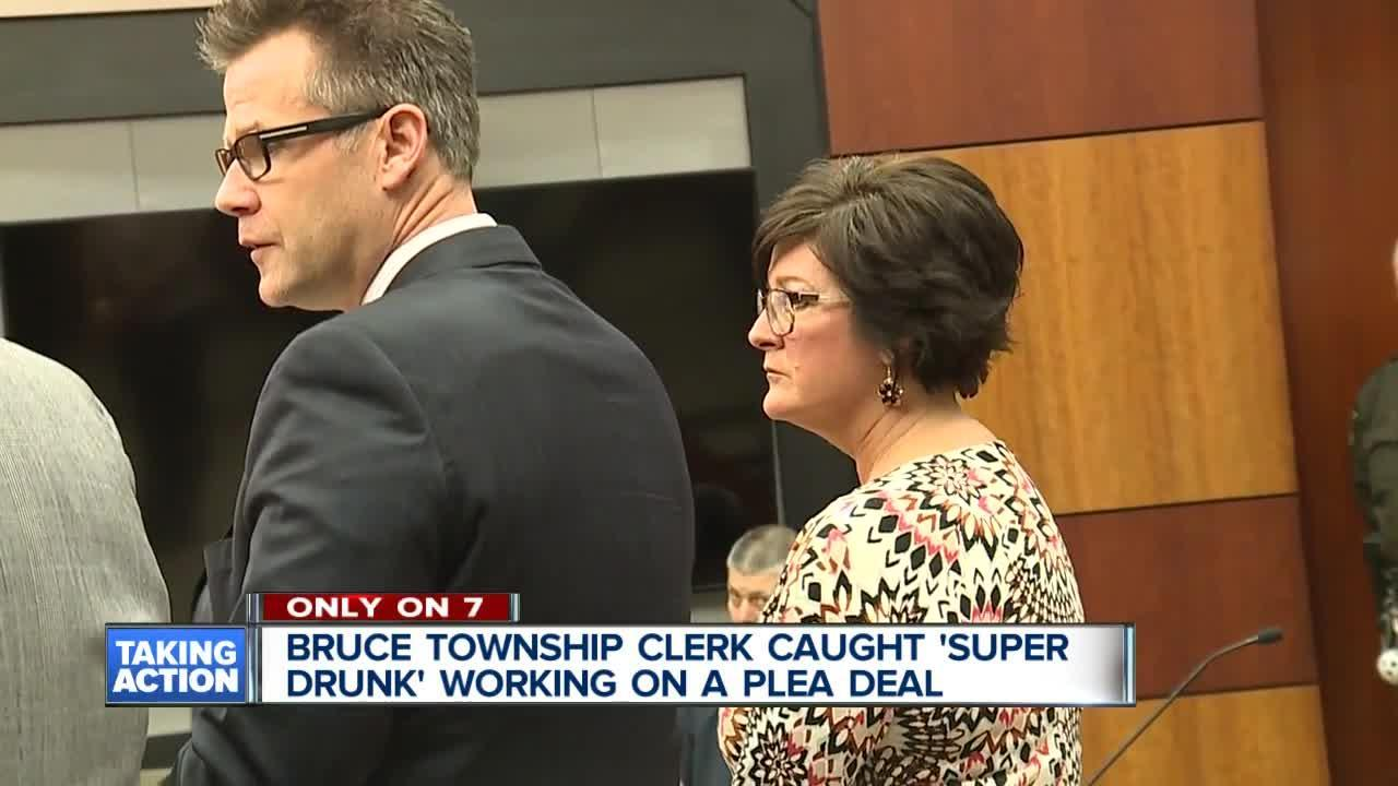 Bruce Township Clerk caught Super Drunk working on a plea deal