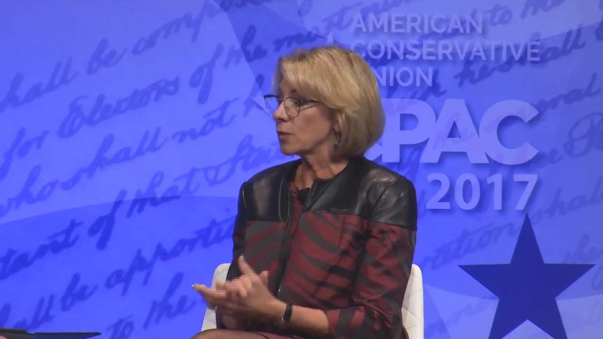 "Betsy DeVos Calls Federal Protection For Transgender Students Huge Example Of ""Overreach"""