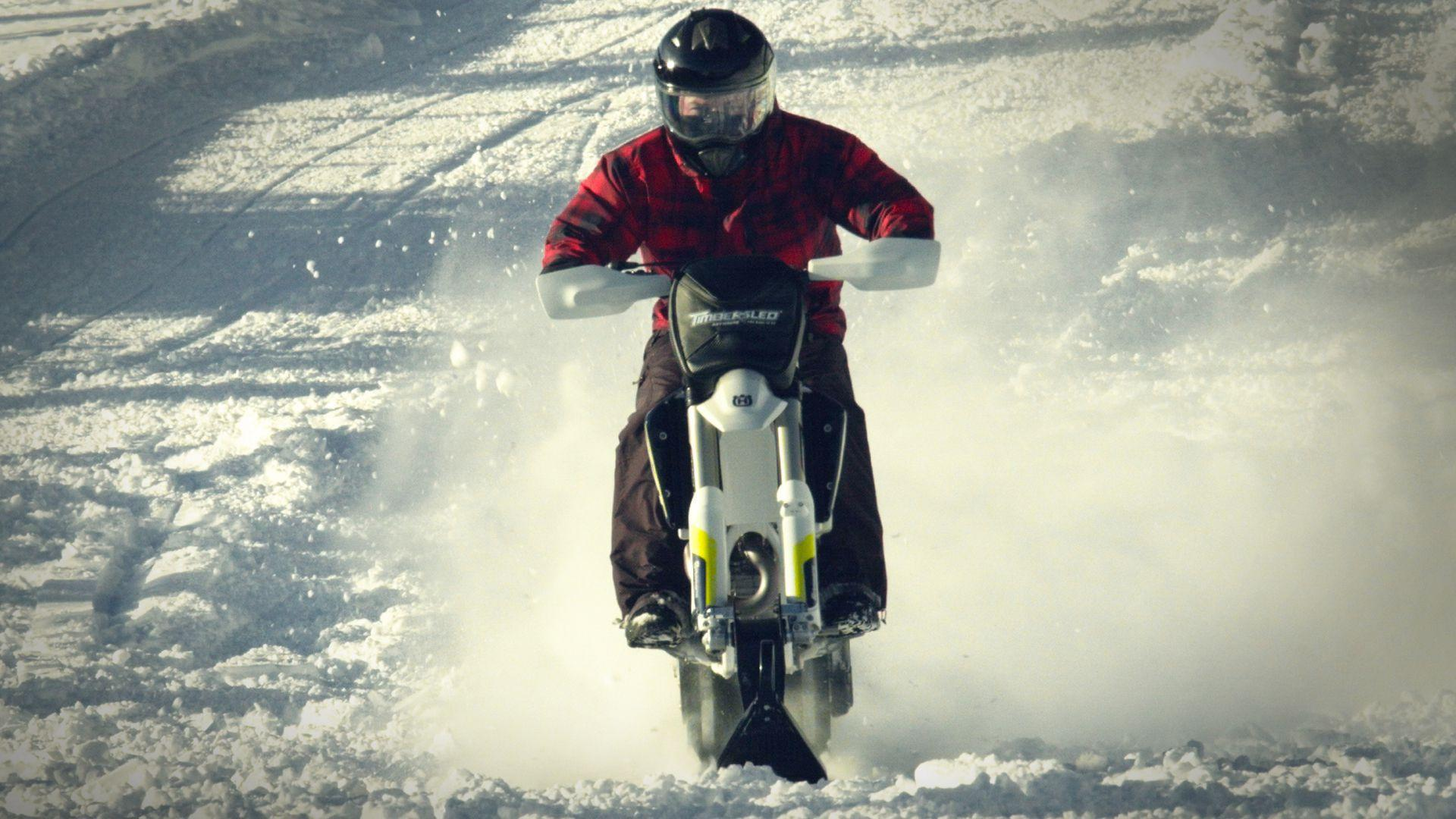 This converted dirt bike is the ultimate winter adventure toy