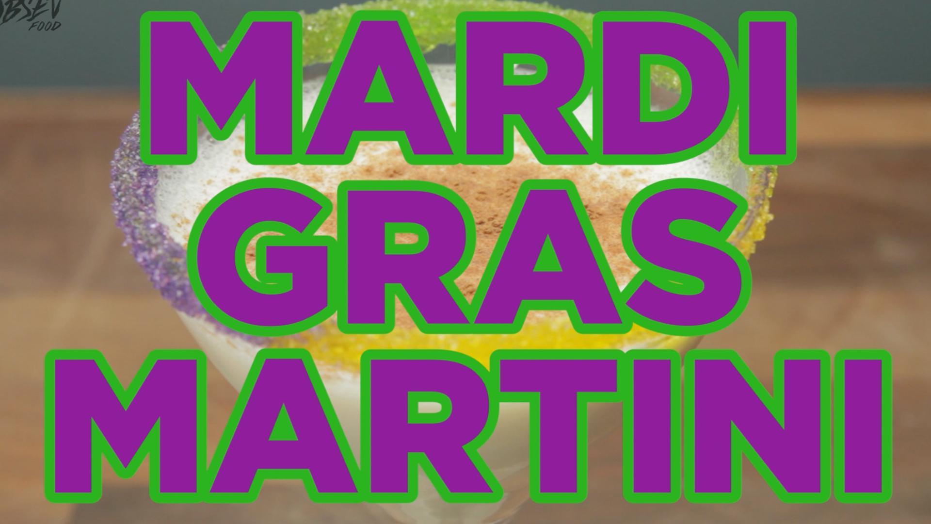 How To Make A Mardi Gras Martini - Full Recipe