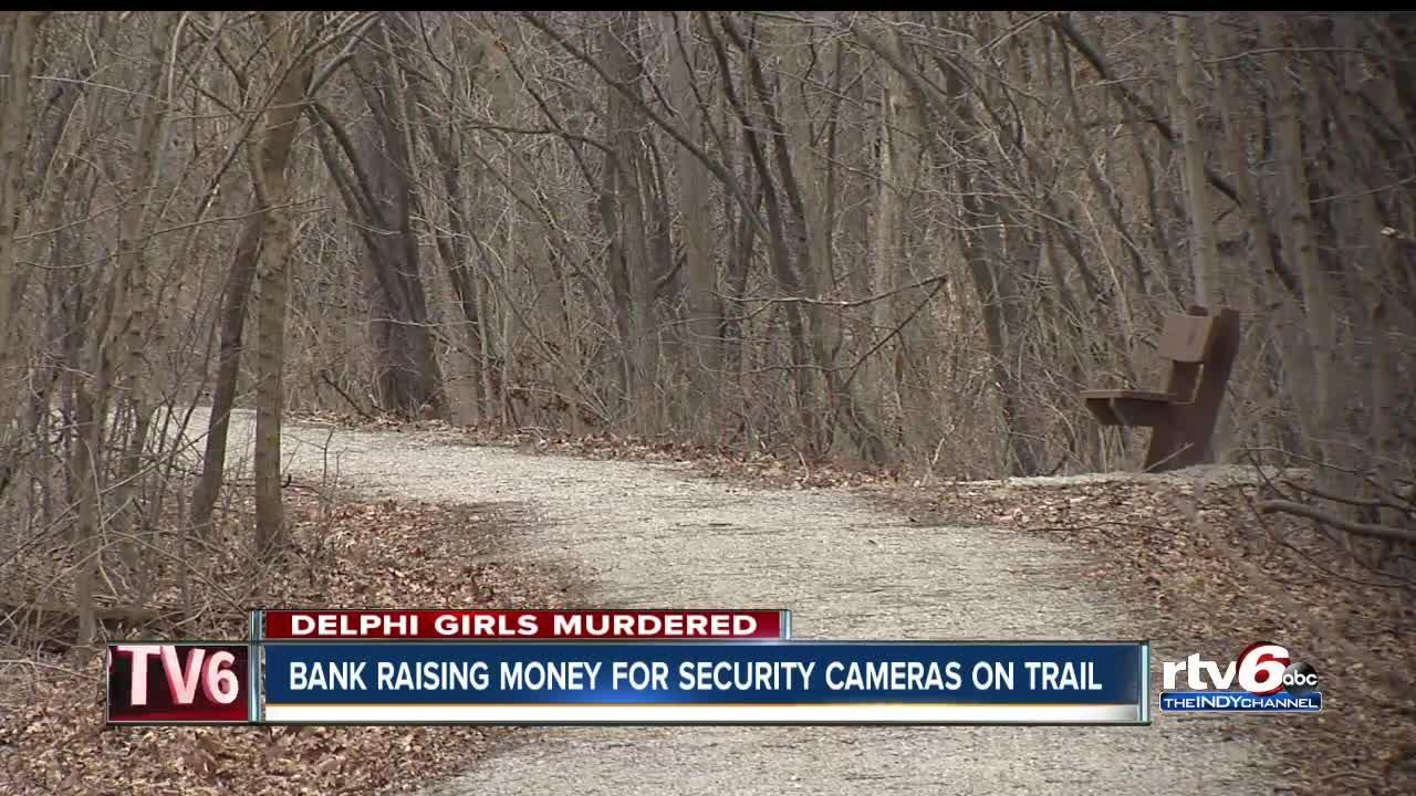 Bank raising money for security cameras on Delphi trail