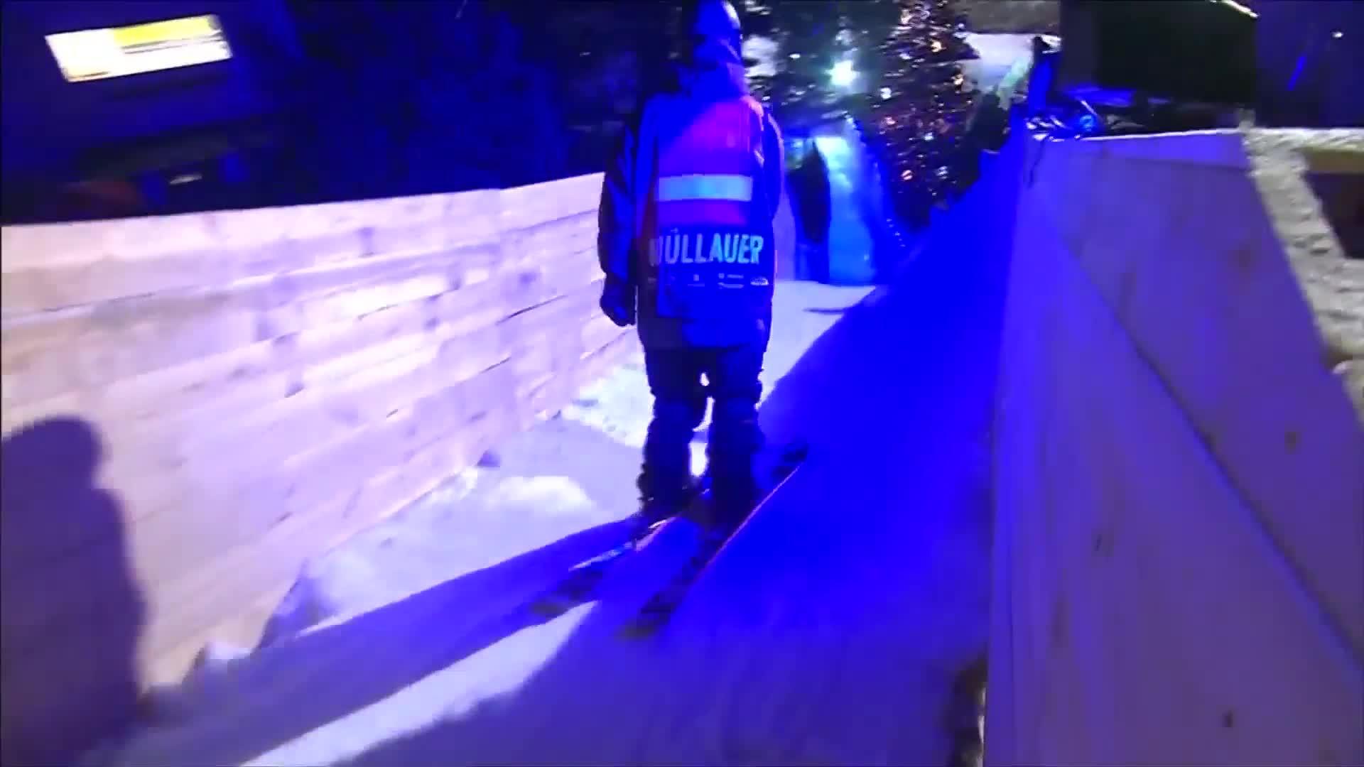 Sweden's Jesper Tjaeder wins slopestyle among the houses