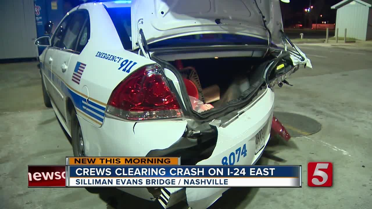 Metro Officer Hospitalized After DUI Driver Slams Into Patrol Car