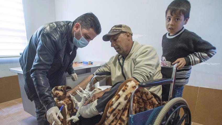 Inside a Canadian-supported clinic at Iraq refugee camp
