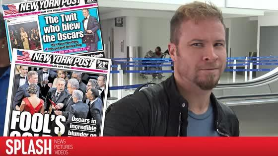 Backstreet Boy's Brian Littrell Jokes About The Oscars Blunder