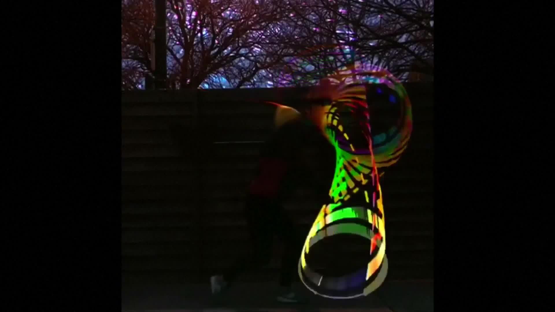 Chicago woman makes hypnotic hula hoop video