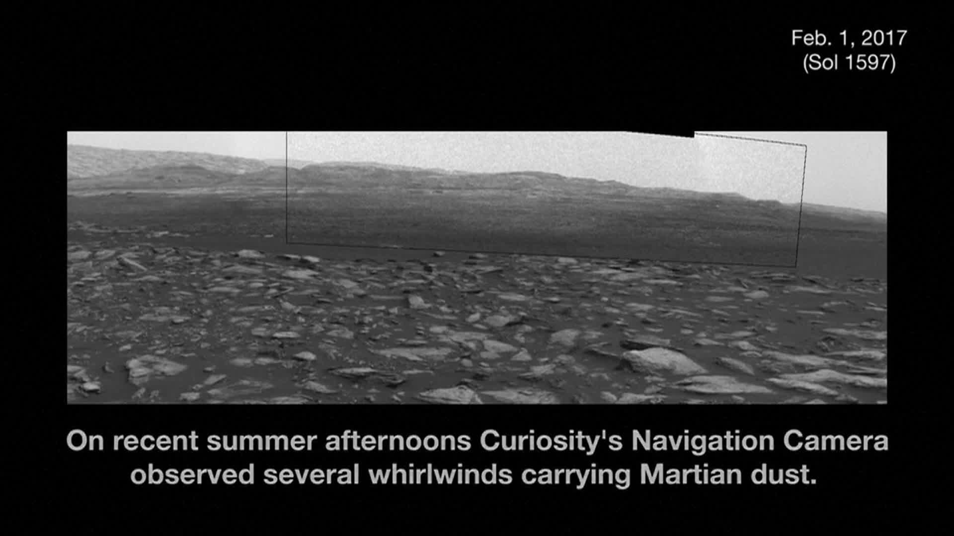 Dust storm images captured by NASA on Mars