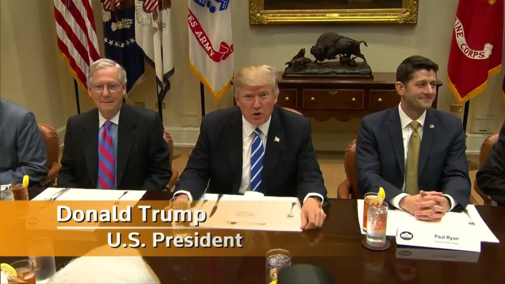 """Legislative plans begin """"as of now"""": Trump"""