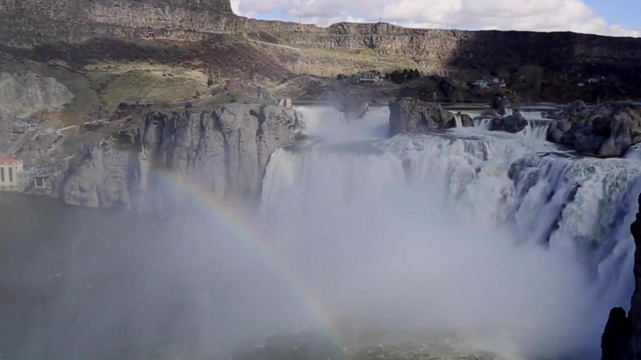 Stunning Scene over Waterfall