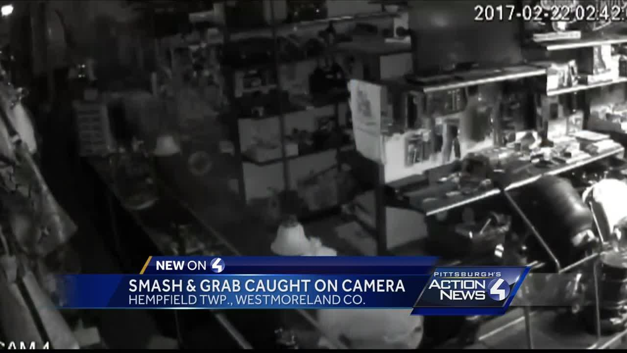 Smash and grab caught on camera