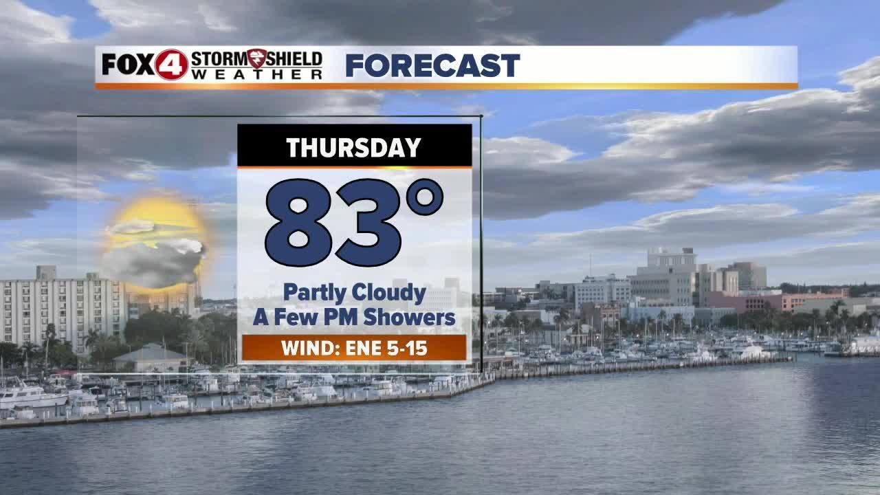 Slight Chance For Rain Thursday 3-22