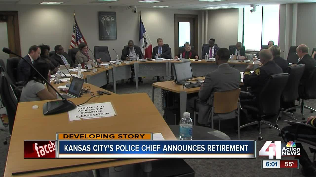 Kansas City police chief announce retirement
