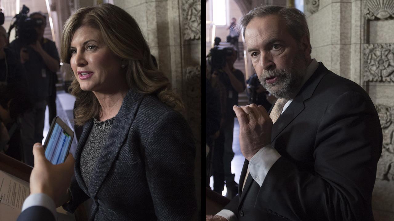 Rona Ambrose, Tom Mulcair slam federal budget