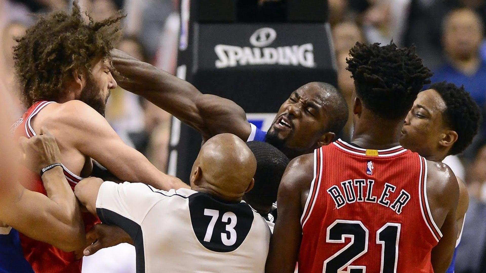Robin Lopez and Serge Ibaka FIGHT, Punches Thrown