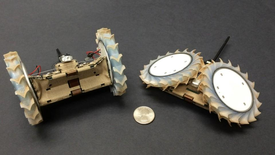 NASA's Origami-Inspired Robot Explores Small Spaces