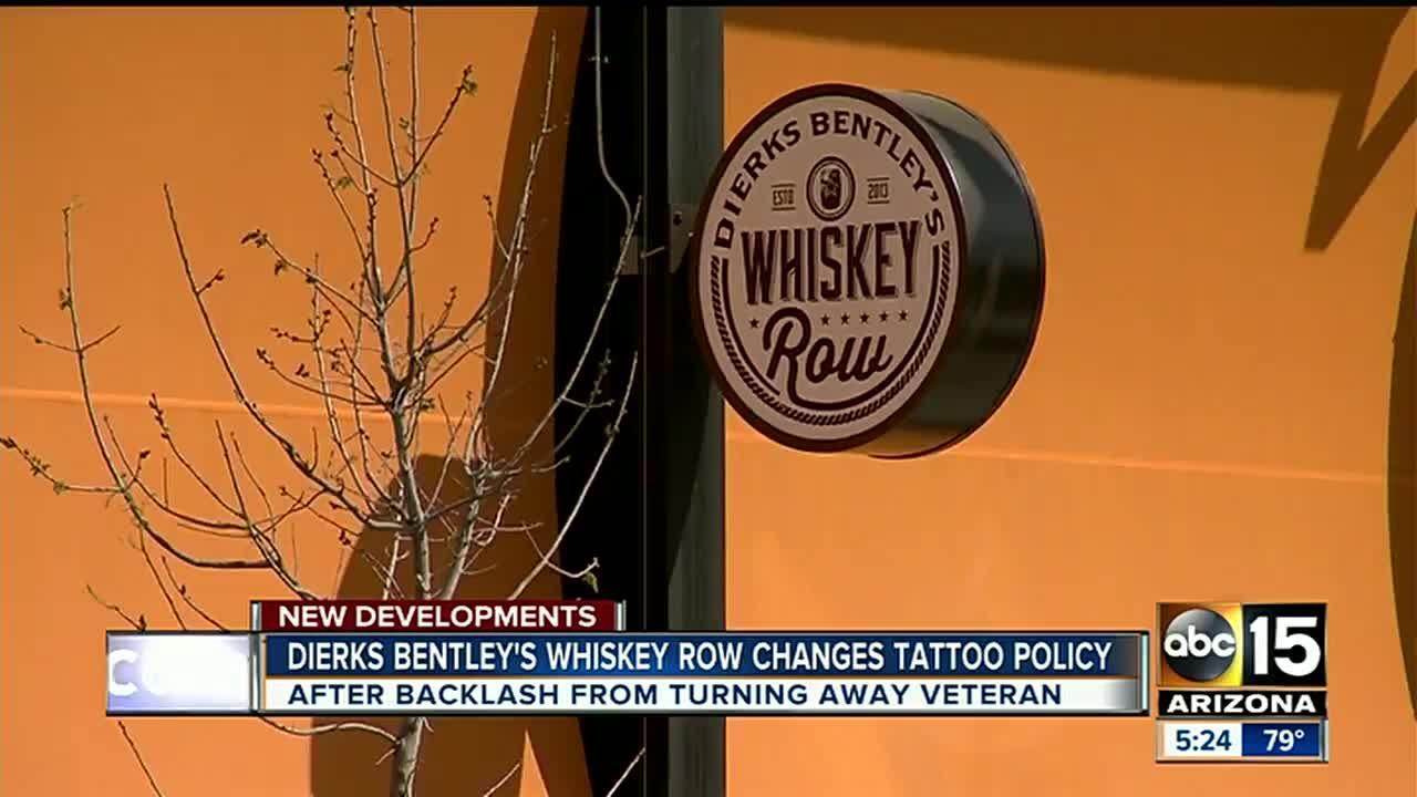 Dierks Bentley's Whiskey Row changes tattoo policy after backlash