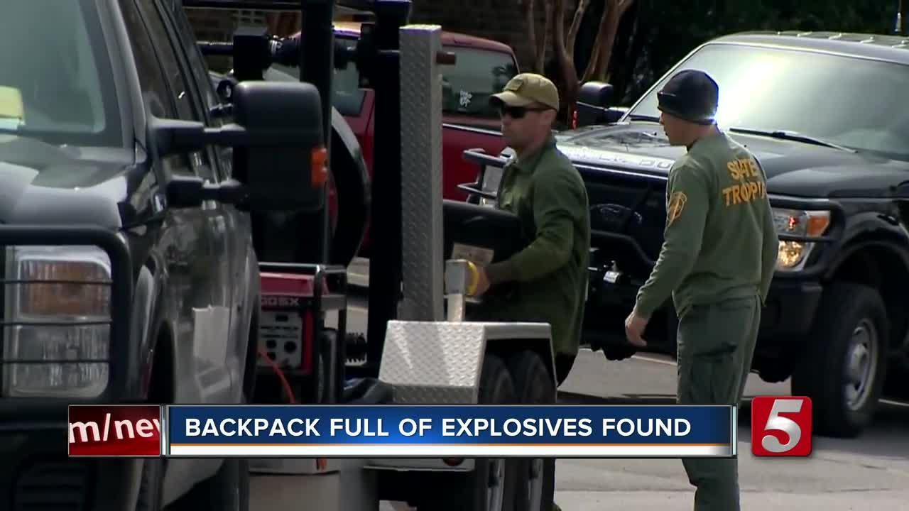 Backpack With Mortar Shells, Training Grenade Found At Apartment Complex