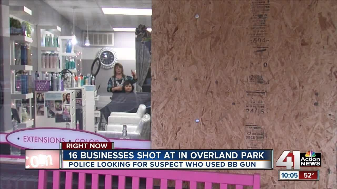 Overland Park businesses & homes shot with BB gun