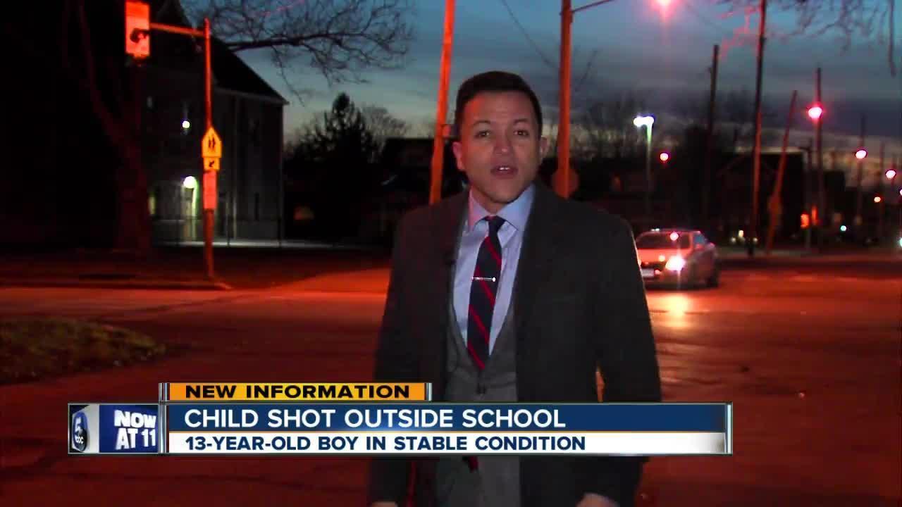 Child shot near Cleveland school
