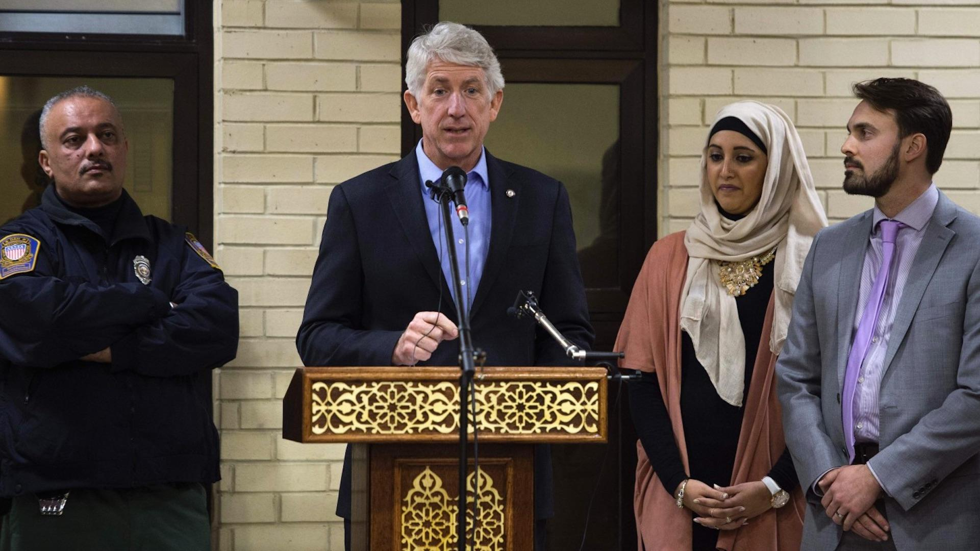 Va. GOP demands apology for Herring's visit to mosque