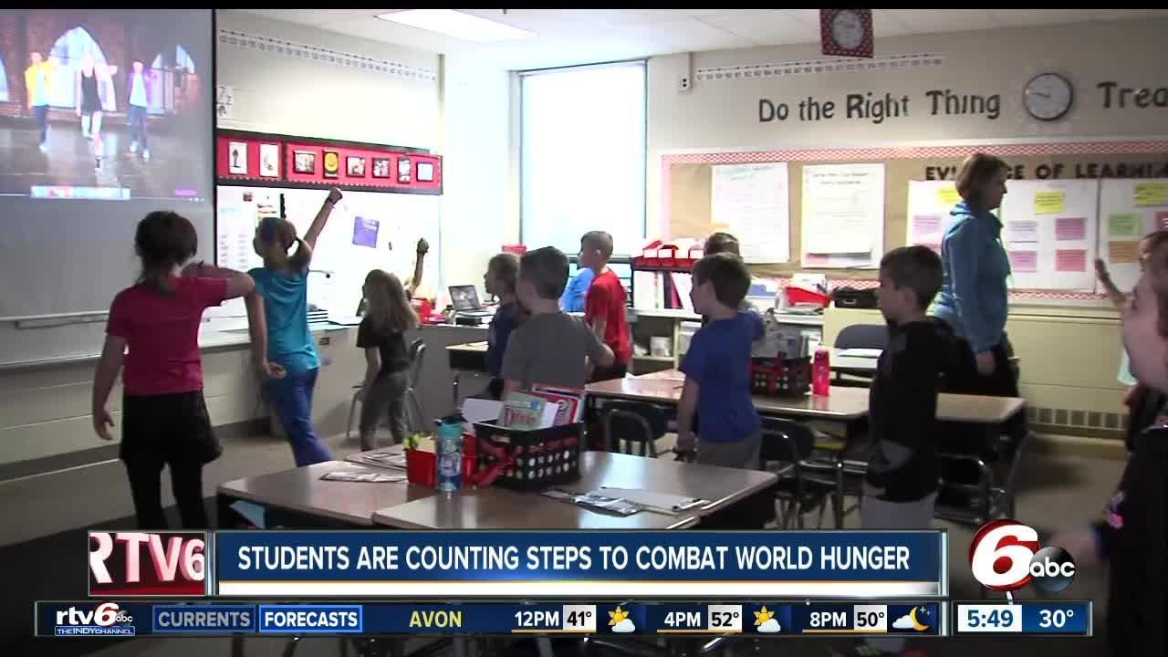 Second Grade Students Exercise To Help Hungry Kids 530AM