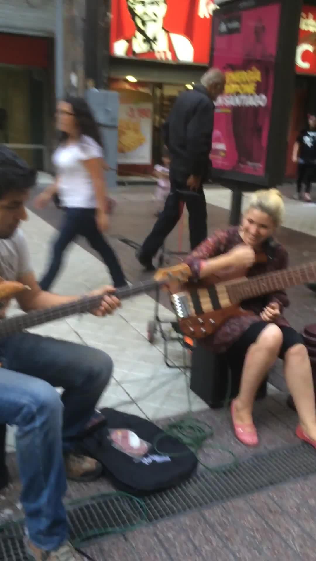 Bassists Rock the Streets of Santigo
