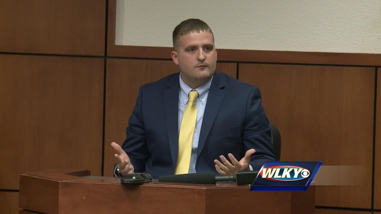 Louisville police officer testifies in his own defense