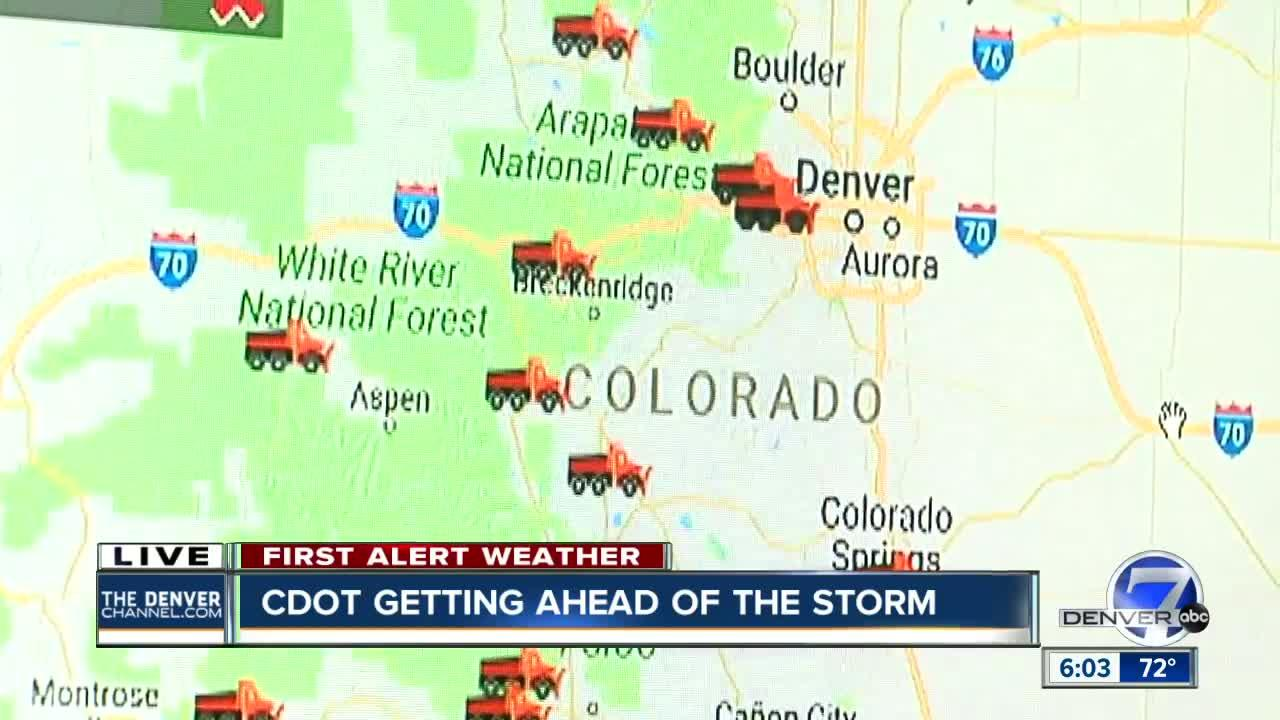 CDOT Gearing Up For Incoming Spring Storm Will Deploy Hundreds Of - Map of colorado national forests