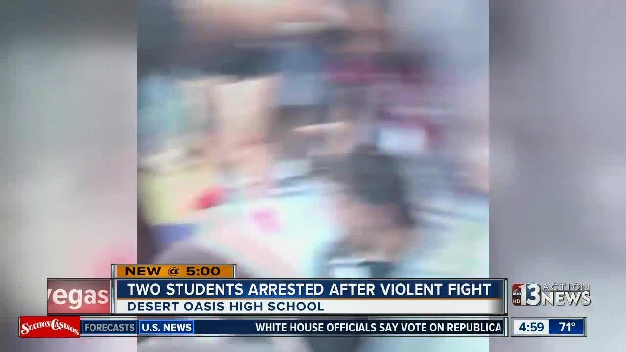 Violent fights break out at Las Vegas high school after new dress code