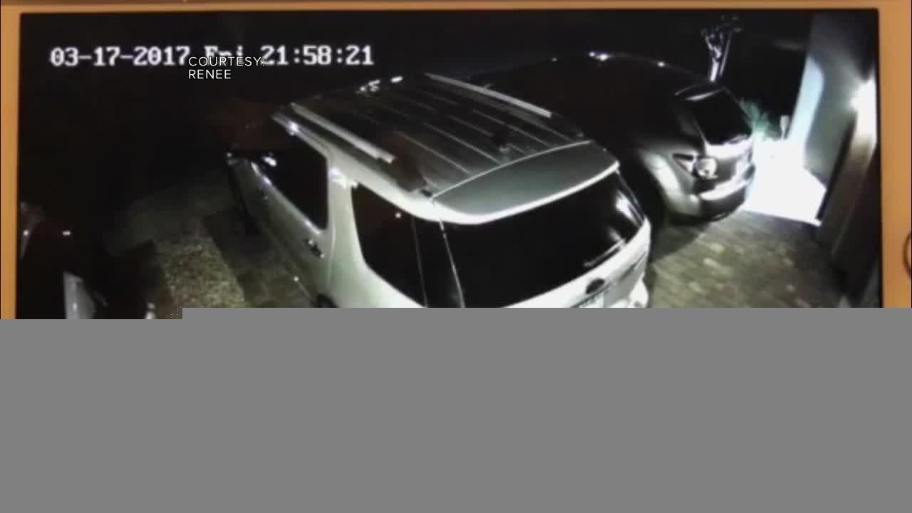 Surveillance shows person trying handles of vehicles in Mountain's Edge