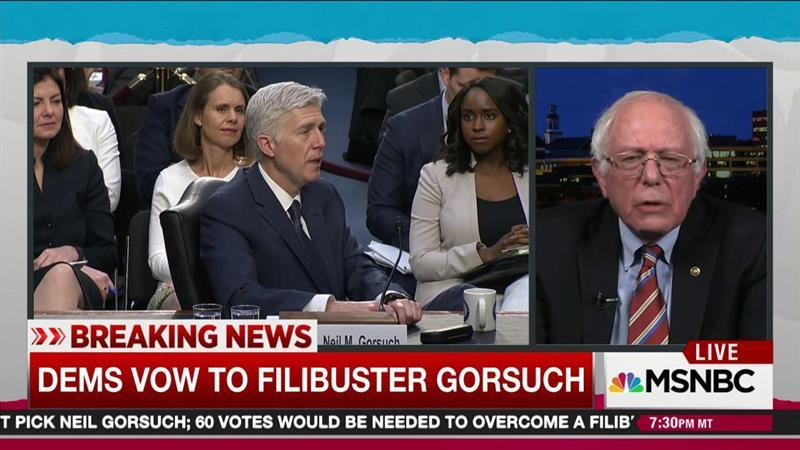 Sanders: Gorsuch answers not satisfactory