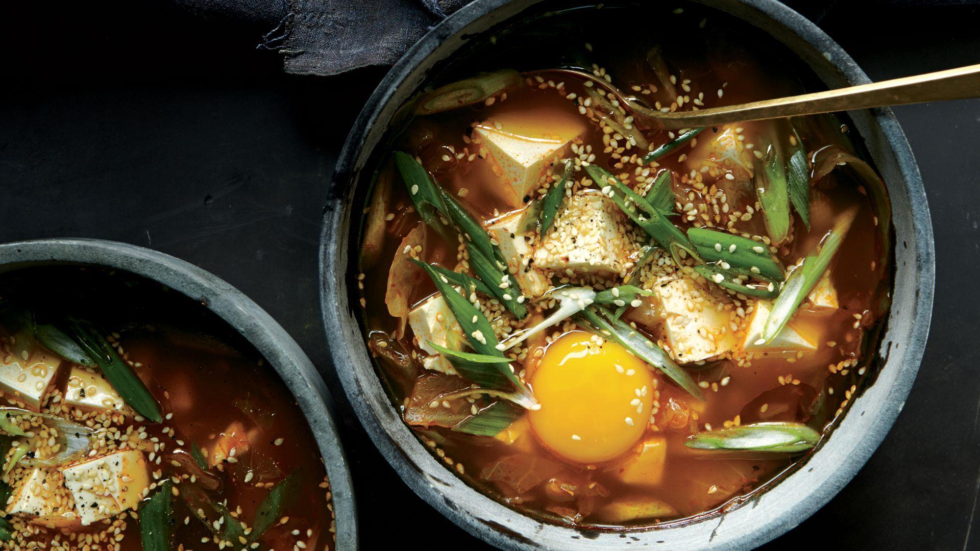 Spicy Kimchi Tofu Stew