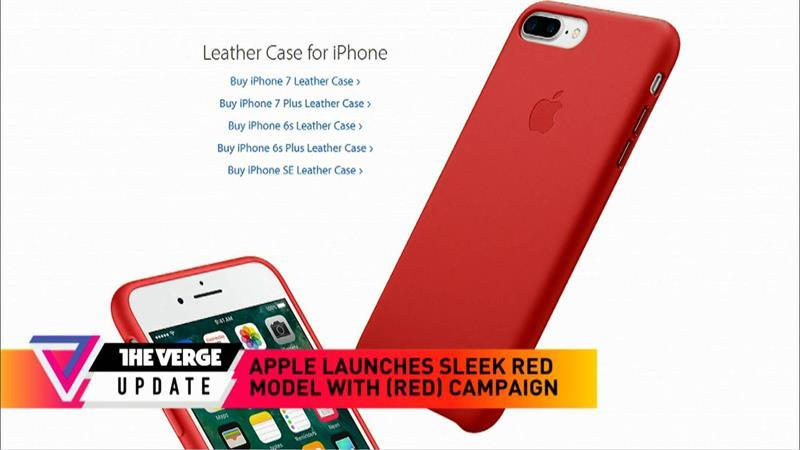 Apple launches red IPhone