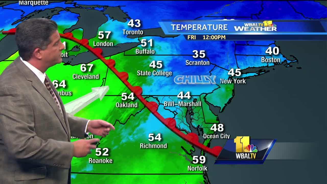 Rain ending, temperatures rising for the weekend