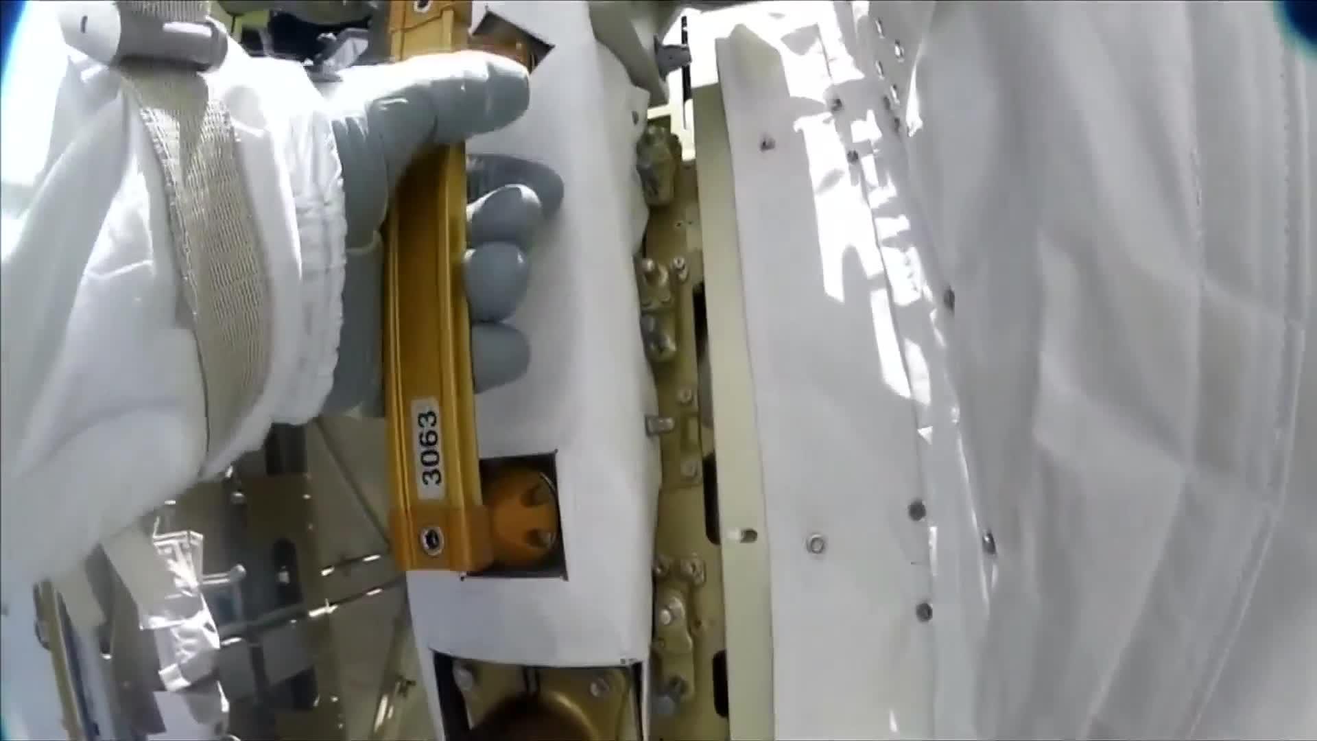 Astronaut takes 'talking' NASA camera on space walk