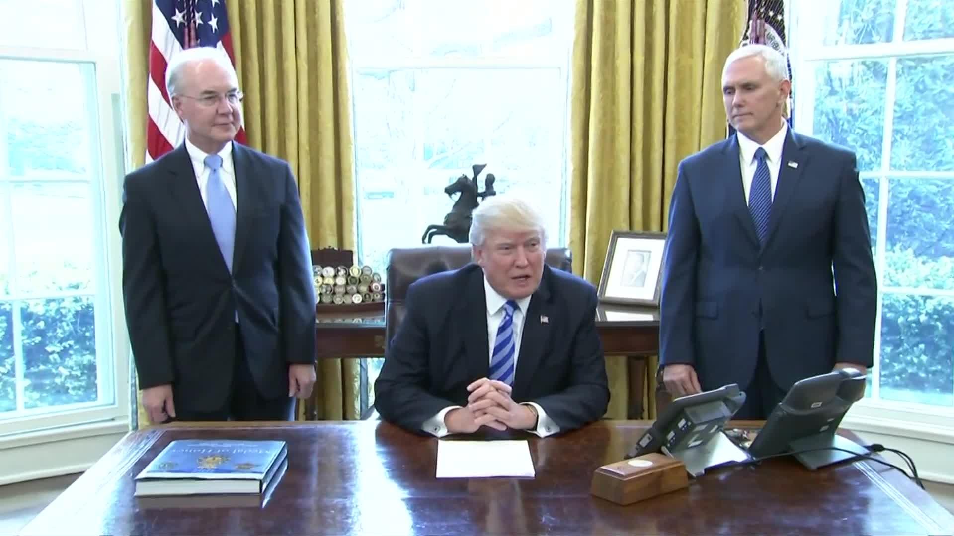 'We were very close': Trump on healthcare bill