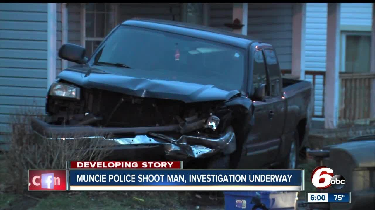 Man injured in officer involved shooting after leading Muncie police on a chase