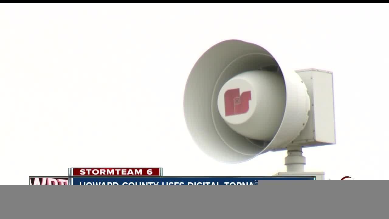 Howard County uses digital tornado alerts