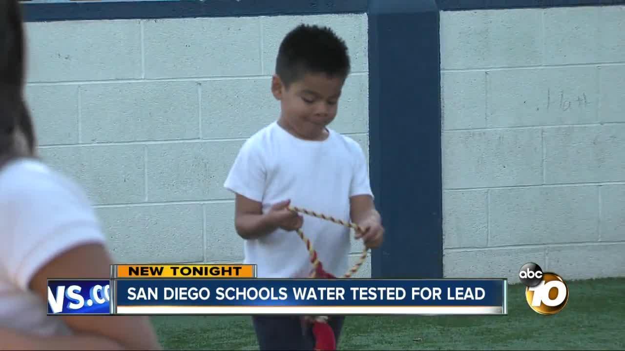 San Diego schools testing water for lead