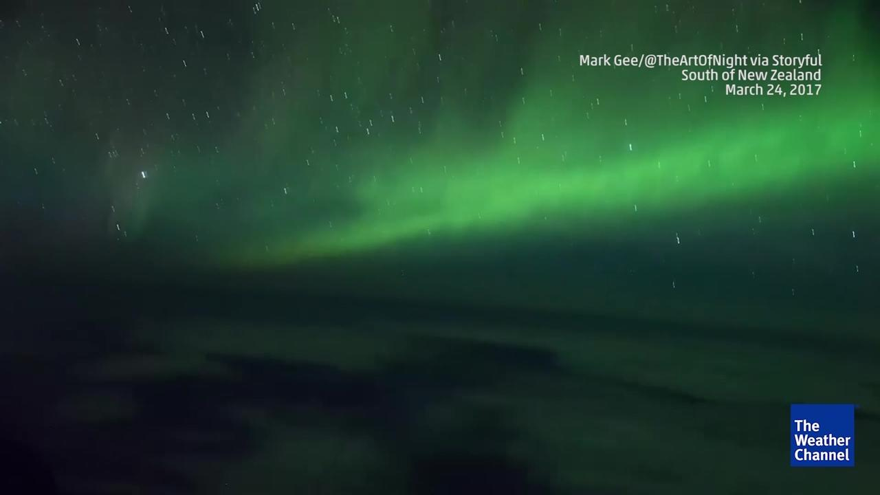 Unique View of the Southern Lights