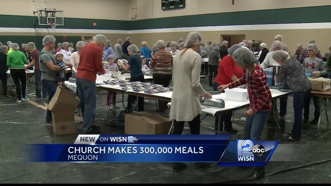 Local church pack meals for those in need