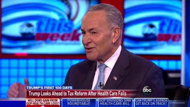 Schumer On Tax Reform: Republicans Will Make Same Mistake 'They Made On Trumpcare'