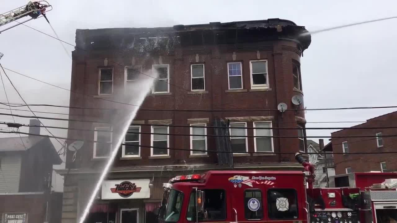 Crews battle three-alarm fire in Butler