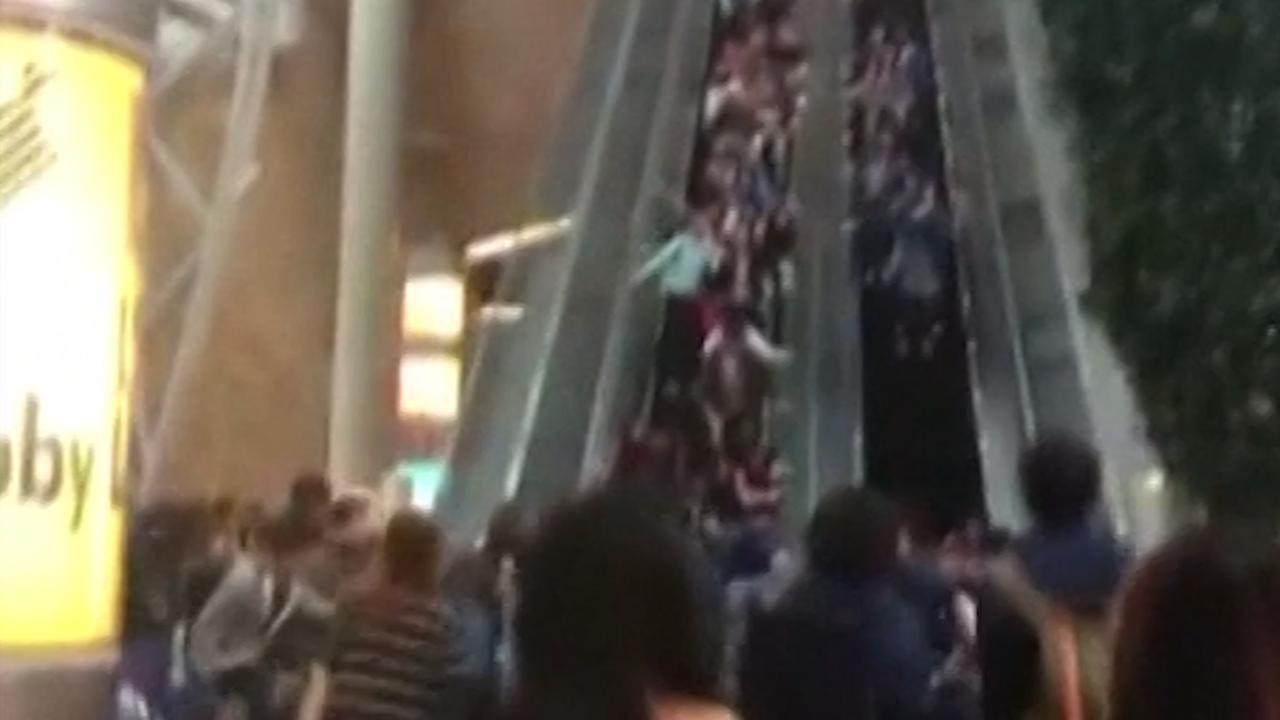 Escalator in Hong Kong Mall Suddenly Reverses, Injuring 18