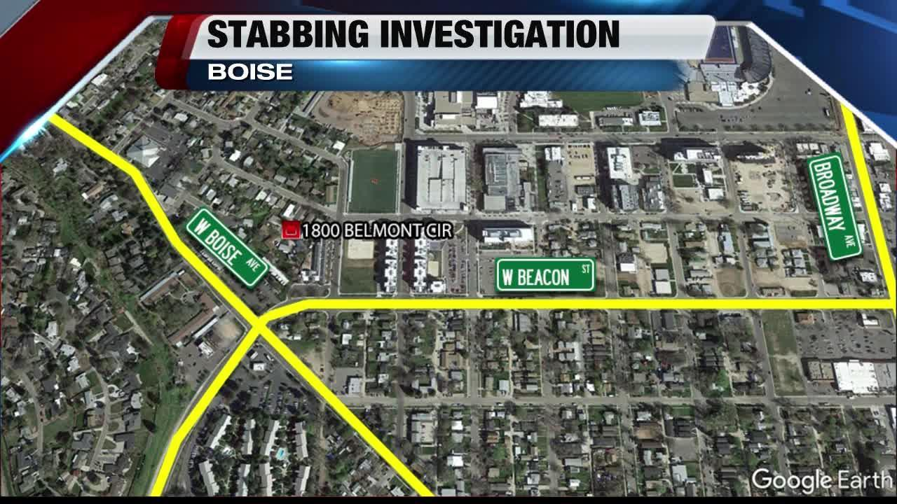 Stabbing reported near Boise State