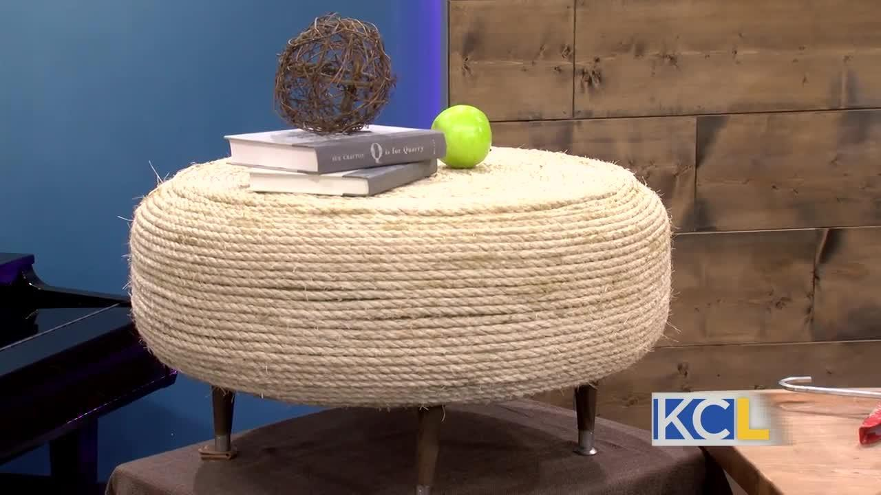 Diva of DIY: How to turn a tire into an ottoman