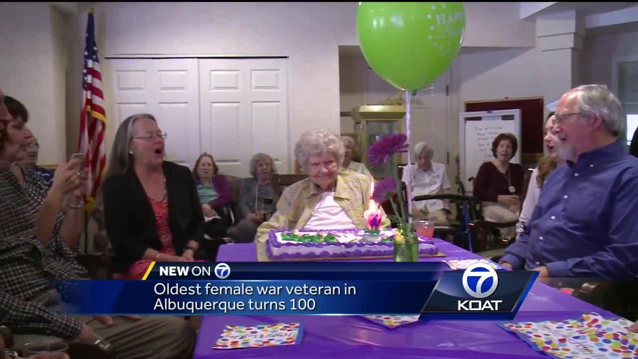 Oldest female veteran in ABQ celebrates 100th birthday