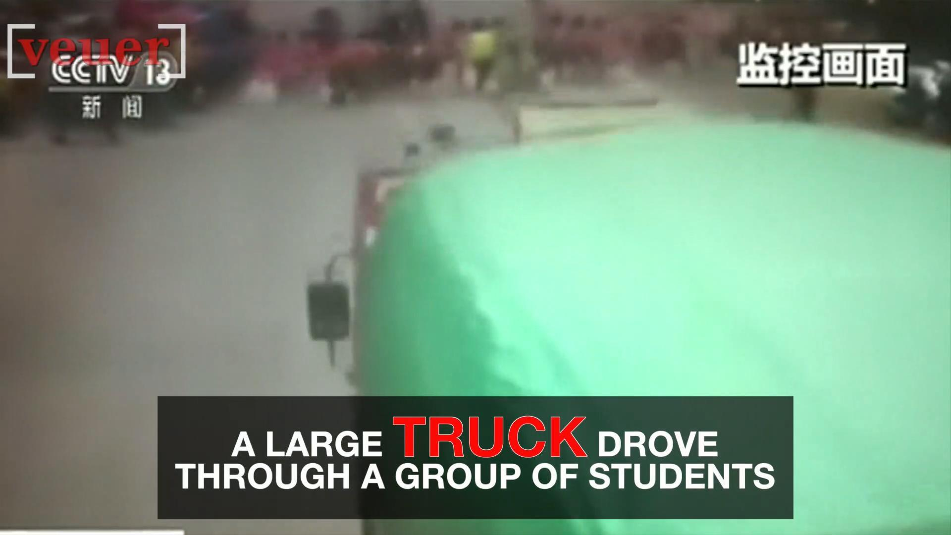 Watch: Truck Drives Through Crowd of Students