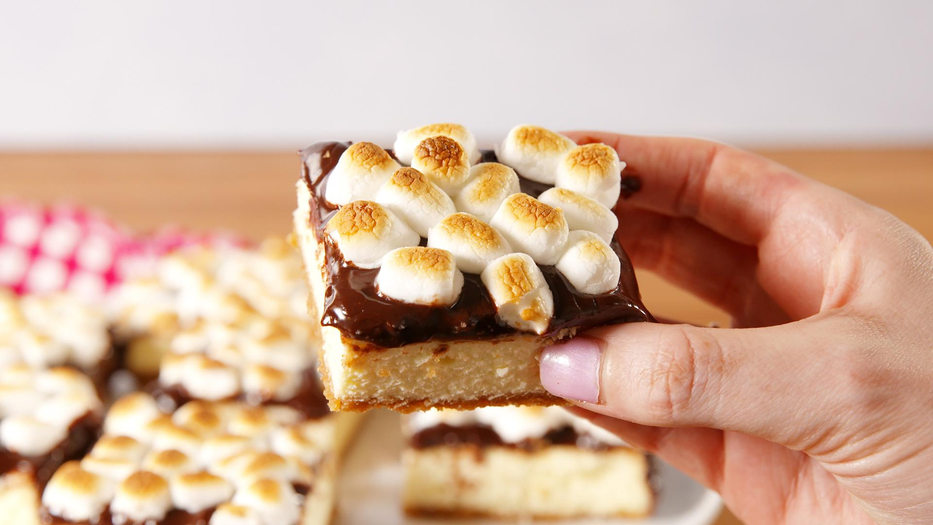 S'mores Cheesecake Bars Are All About the Toasted Marshmallows